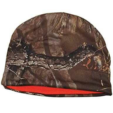 2a7c9ce3185 Amazon.com  Warm Reversible Hunter Orange and Camouflage Beanie Cap ...
