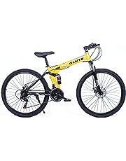 Riscko Bicicleta Mountain Bike Plegable de Aluminio Modelo Adventure con Amortiguador, Ruedas de 26'' y 21 Cambios Shimano
