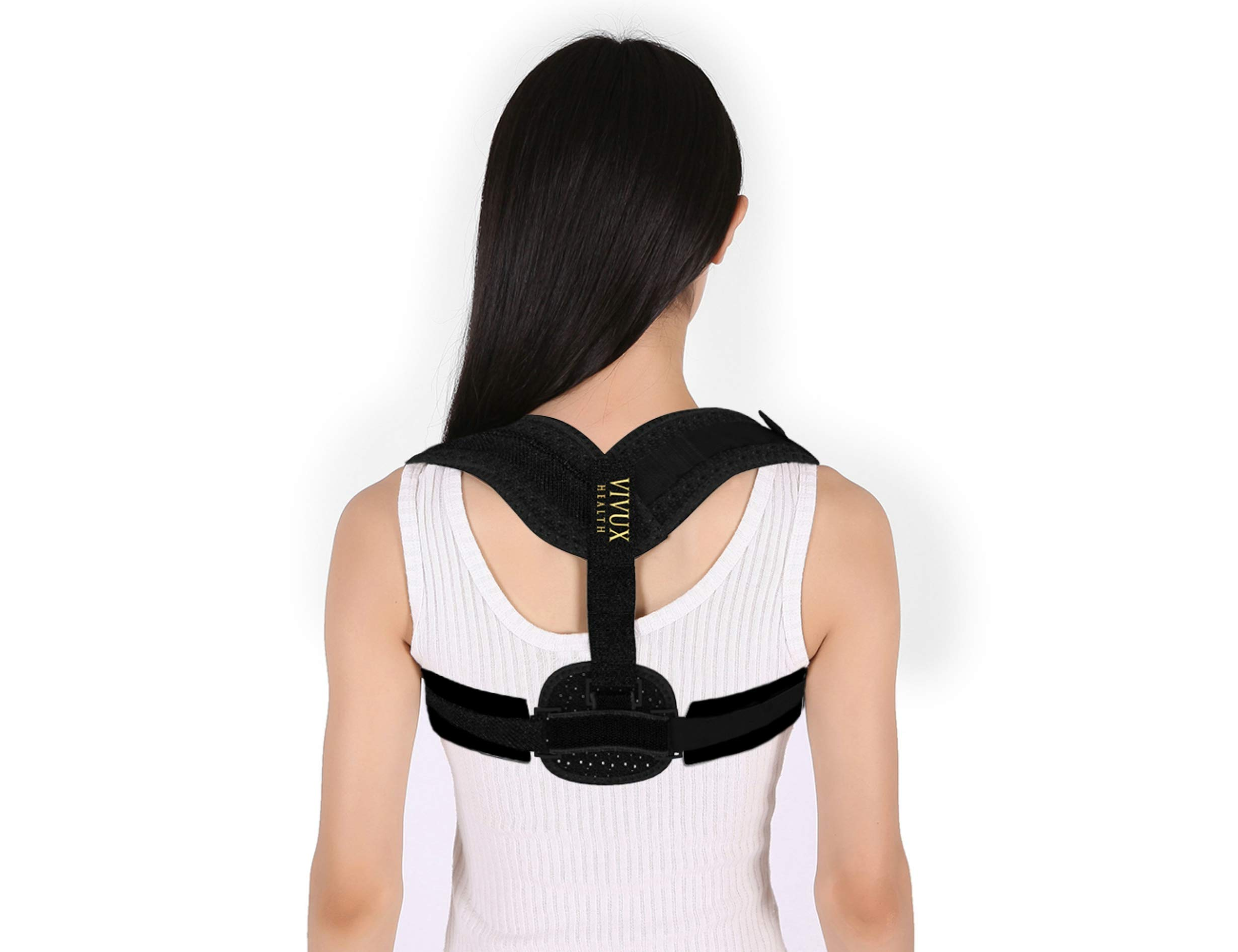 Posture Corrector for Women & Men | Back Support Brace for Upper Back & Neck Pain Relief | Back Straightener & Upright Trainer for Scoliosis & Spine Alignment | Under Clothes & Discreet | Soft Fabric
