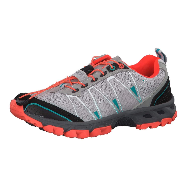 Ghiaccio-rouge Fluo CMP - Atlas Chaussures de Trail Running pour Femmes (Noir Vert) 36 EU