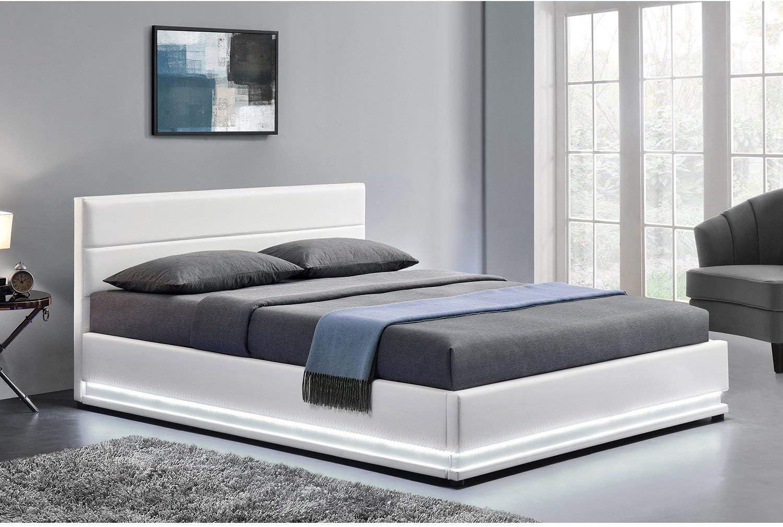 LOdin -Estructura de cama en piel sintética, con canapé ...