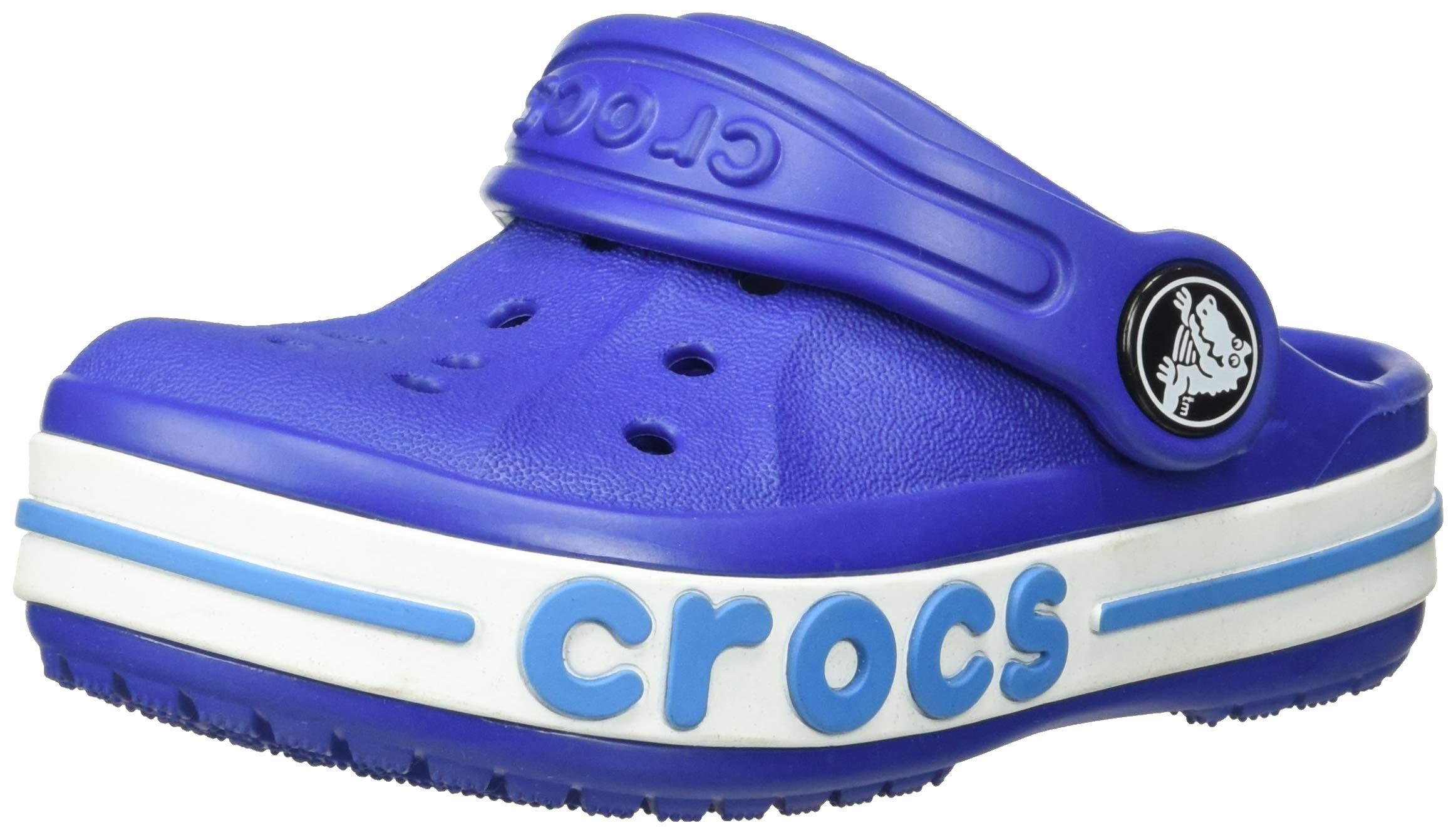 Crocs Kids Bayaband Clog, Cerulean Blue, 7 M US