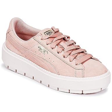 purchase cheap 5fb38 dea92 Amazon.com: Puma Platform Trace Womens Sneakers Pink: Clothing