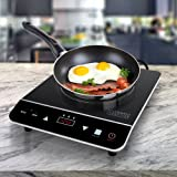 Cosmo 1800W Portable Induction Cooktop Countertop Burner for Dorms, Boats, Patios & RVs, Black