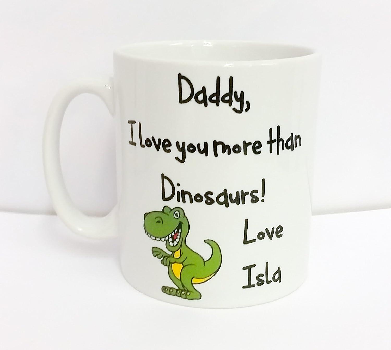 dinosaur Present Daddy I Love You More Than Dinosaurs Personalised Mug