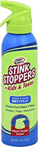 Odor-Eaters Stink Stoppers for Kids & Teens Dry Spray, 4 Ounce (Value Pack of 2)
