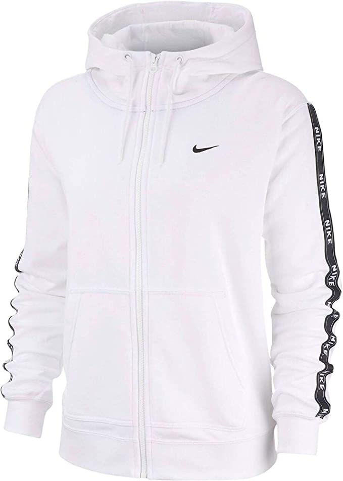 In qualsiasi momento Fa i lavori domestici apprendista  Nike Hoodie Full Zip Logo Tape Felpa con Cappuccio da Donna Donna:  Amazon.it: Abbigliamento