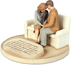 Lighthouse Christian Products Praying Husband Wife United in The Spirit 6 x 4.5 Cast Stone Sculpture