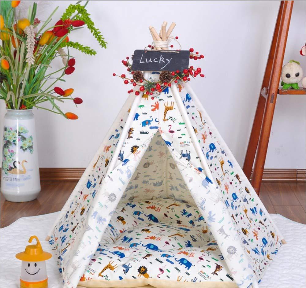 50x50x60cm GZDXHN Pet tent cat nest kennel Teddy removable cotton canvas pet nest pet supplies