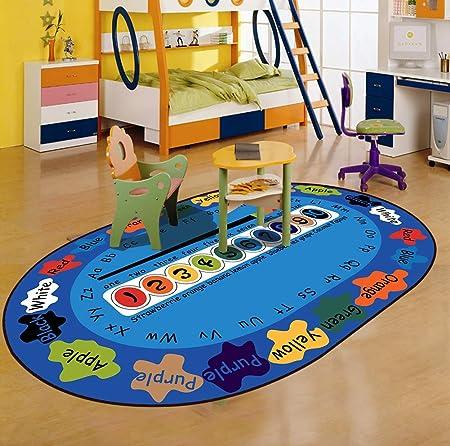 Fancytan Kids Rug Soccer Football Round Rug Carpet Floor ...