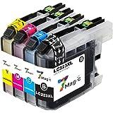 LC223 brother, 7Magic Cartucho de tinta reemplazo Brother LC223 LC 223 XL Alta Capacidad Compatible con Brotehr DCP-J562DW MFC-J480DW DCP-J4120DW MFC-J4420DW MFC-J4620DW MFC-J880DW MFC-J5720DW MFC-J5620DW MFC-J5320DW Impresora(2 Negro, 1 Cian, 1 Magenta, 1 Amarillo)