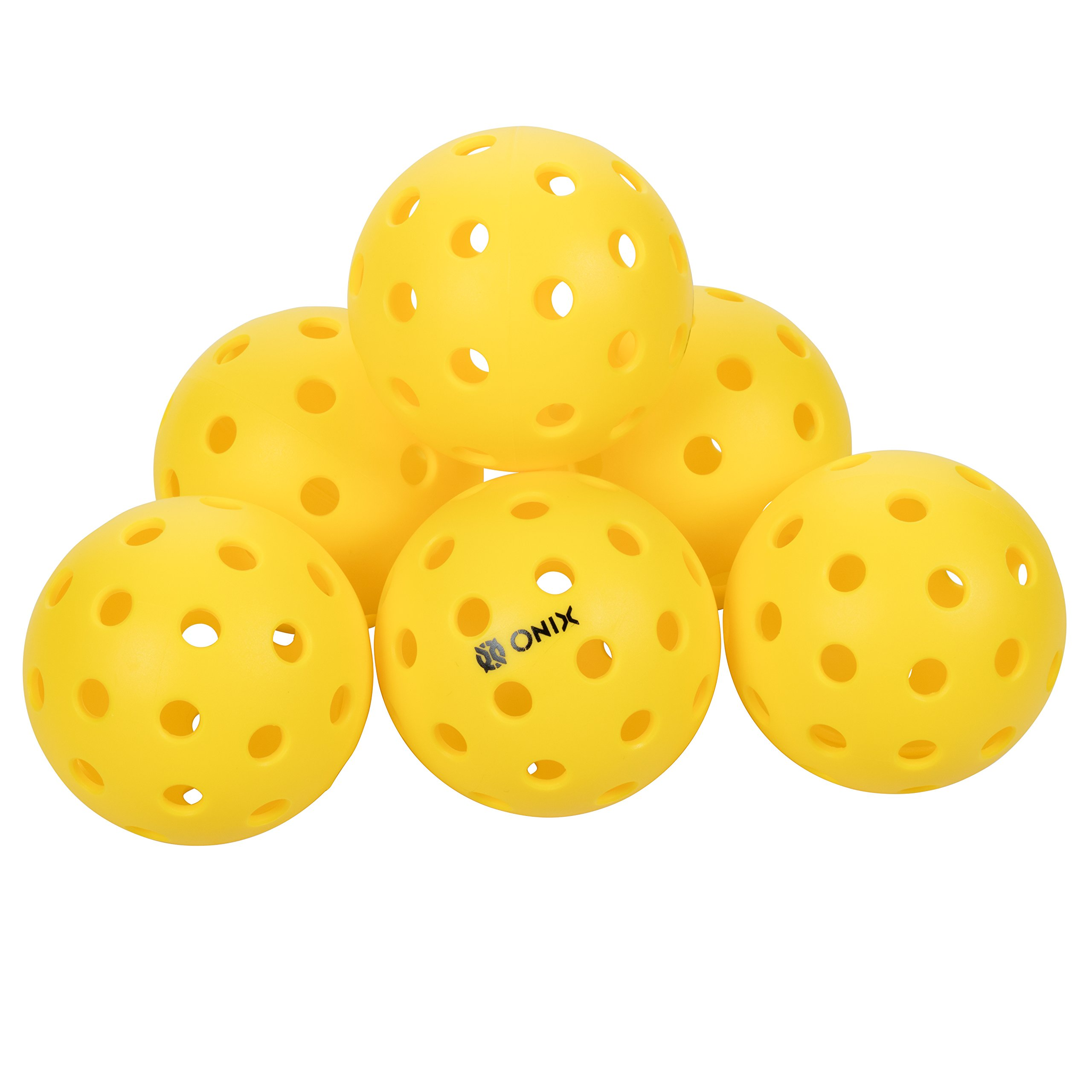 Onix Pure 2 Outdoor Pickleball Balls (6-Pack) Specifically Designed and Optimized for Pickleball