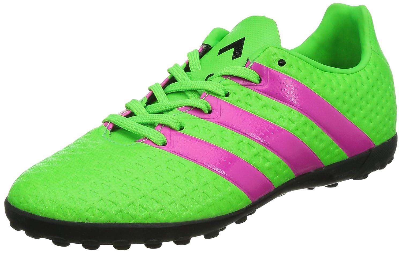 adidas Ace 16.4 TF, Unisex-Kinder Fußballschuhe, Grün (Solar Green/Shock Pink/Core Black), 38 EU (5 Kinder UK)