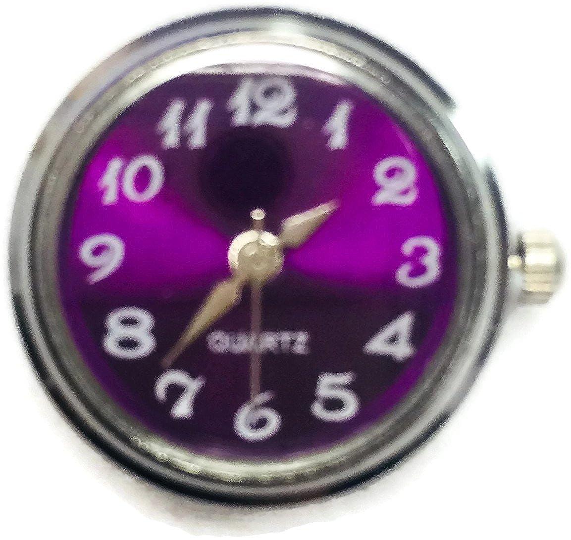 Purple Quartz WatchダイヤルWind Up Real Working Watch 18 mm – 20 mmファッションスナップジュエリースナップチャーム B077PJ9SM9