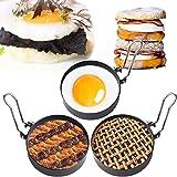 Egg Ring,3 Packs Egg Pancake Maker Mold Crumpet Rings Non-Stick Stainless Steel English Muffin Ring Maker Egg Pancaker…