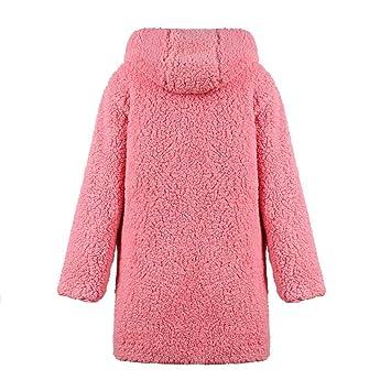 Fuxitoggo Chaqueta de Lana Artificial para Mujer, con Abrigo de Lana Artificial, Ambos Lados. (Color : Rosado, tamaño : Medium): Amazon.es: Hogar