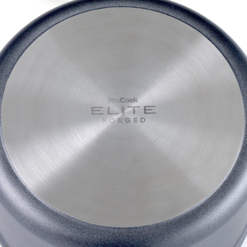 Antihaftbeschichtung induktionsgeeignet 14 cm /Ø 1,1 l Volumen ProCook Elite Forged Stielkasserolle mit Deckel