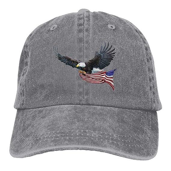 Gorra camionera Unisex de Vaquero con Bandera Americana de Eagle ...