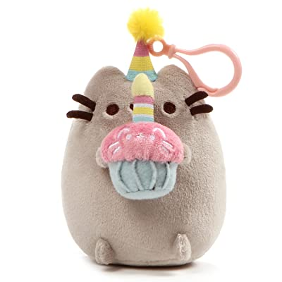 "GUND Pusheen Snackable Birthday Cupcake Cat Plush Stuffed Animal Backpack Clip, Gray, 5"": Gund: Toys & Games"