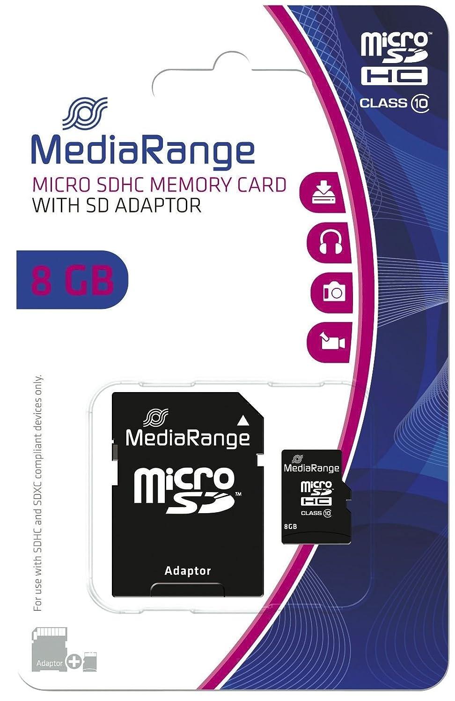MediaRange Micro SDHC Tarjeta de Memoria 8GB MR957 Clase 10 con ...