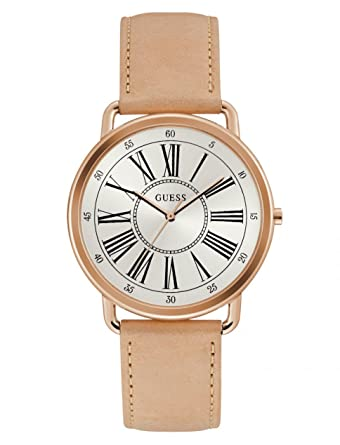 Guess Reloj Analógico para Mujer de Cuarzo con Correa en Cuero W1068L5: Amazon.es: Relojes
