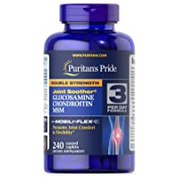 Puritans Pride Double Strength Glucosamine, Chondroitin and Msm Joint Soother, 240...
