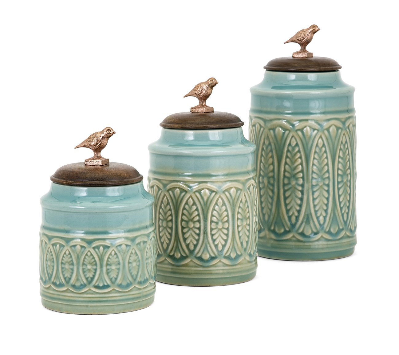 Trisha Yearwood Home Collection 95805-3 Ty Songbird Canisters - Set of 3 Trisha Yearwood Home Set of 3 Songbird Canisters by Trisha Yearwood Home Collection