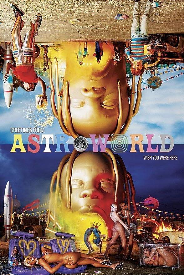 Yutirerly ASTROWORLD - Travis Scott Music Album Cover Poster 24in x 36in: Amazon.es: Hogar