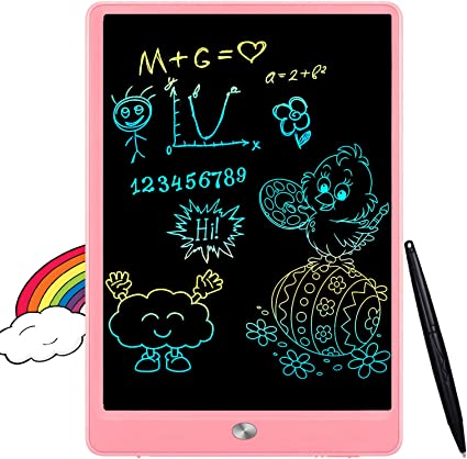 Doodle Board Kids Light and Thin Pressure Sensitive Writing Pad Drawing Graphics Board Kids Gift Educational Tool,4.4 inch Pink Tiean Kids LCD Writing Tablet