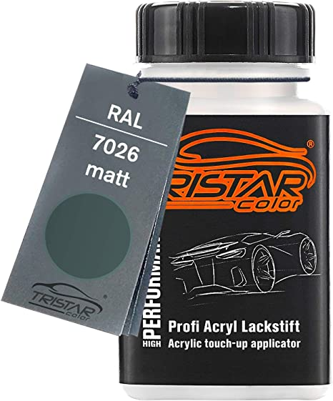 Tristarcolor Ral 7026 Granitgrau Matt Lackstift 50 Ml Schnelltrocknend Auto