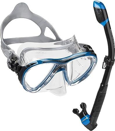 Cressi Big Eyes Evolution Scuba Diving and Snorkeling Mask Clear//Black