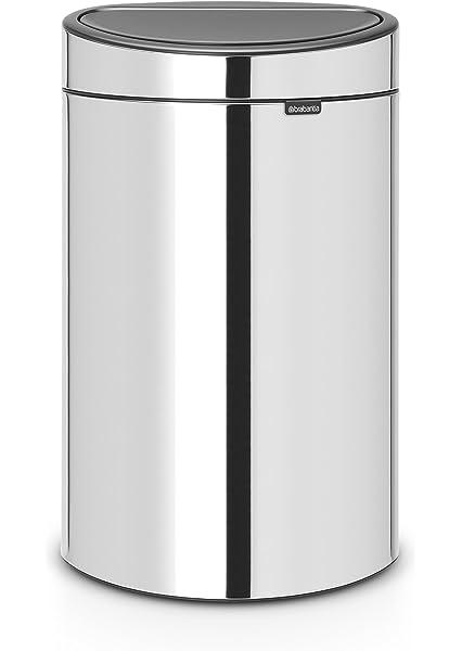Brabantia Touch Bin Cubo de Basura para Reciclaje, 23+10 ...