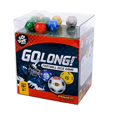 Award winning Dice Game, GoLong! A Football Dice Game - Super Fun Game - Portable, Playing Dice : Perfect For - Travel, Home, Parties, Gifts, Stocking Stuffers: Toys & Games [5Bkhe1407169]