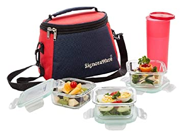 65239655edc Image Unavailable. Image not available for. Colour  Signoraware Best Glass Lunch  Box ...