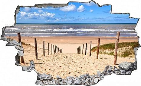 Meer Strand Küste Urlaub Wandtattoo Wandsticker Wandaufkleber E0766