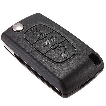 SODIAL(R) 3 Button del caso del llavero para Citroen C2 C3 ...