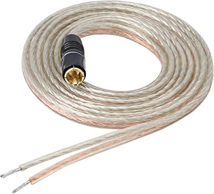 RCA to Banana Pin Type Plug Speaker Wire,HiFi OFC Speaker Cable Audio Cable 5M Gold Plated RCA Male to Dual Banana Pin Plug Speaker Cord Connector High Level for Amplifiers and Subwoofer
