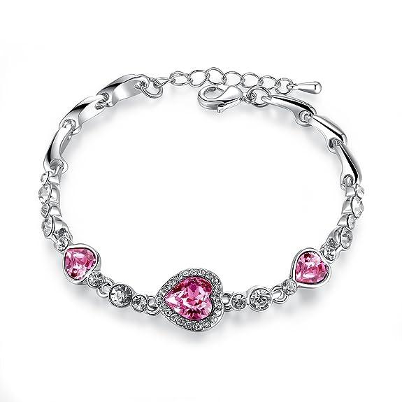 TimeBetter Lady's Bracelet Crystal Bracelet Gift-wrapped (Light Blue)