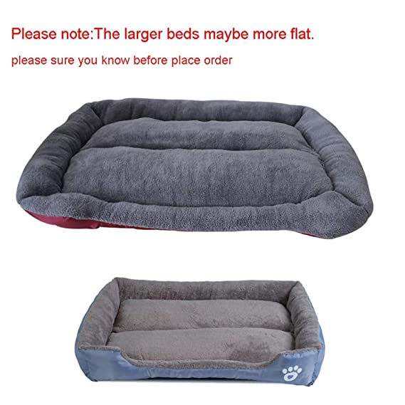 Amazon.com : Sex Appealing S-3XL 9 Colors Paw Pet Sofa Dog Beds Waterproof Bottom Soft Fleece Warm Cat Bed House Petshop Dropshipping cama perro, Fushia, ...