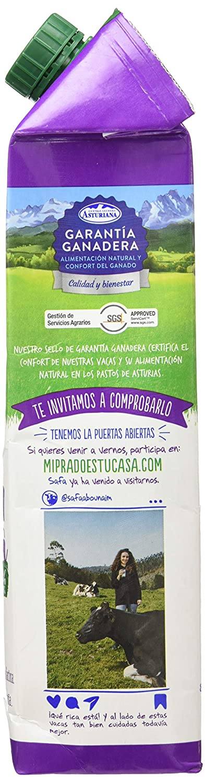 Central Lechera Asturiana Leche Sin Lactosa 0,0% - Paquete de 6 x 1000 ml - Total: 6000 ml