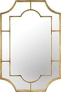 Creative Co-op Metal Wall Gold Finish Mirror