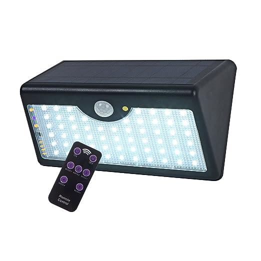 LEDemain Eclairage Solaire Exterieur 60 LED 1300 lumen Sans Fil avec ...