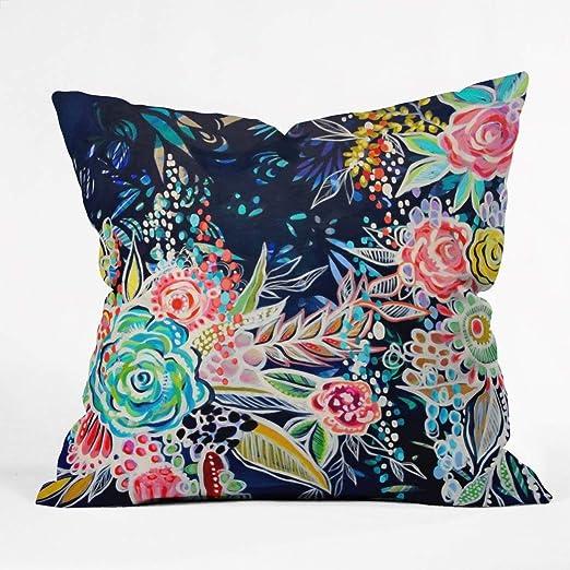 1 pieza azul marino Multi noche Blooming floral patrón ...