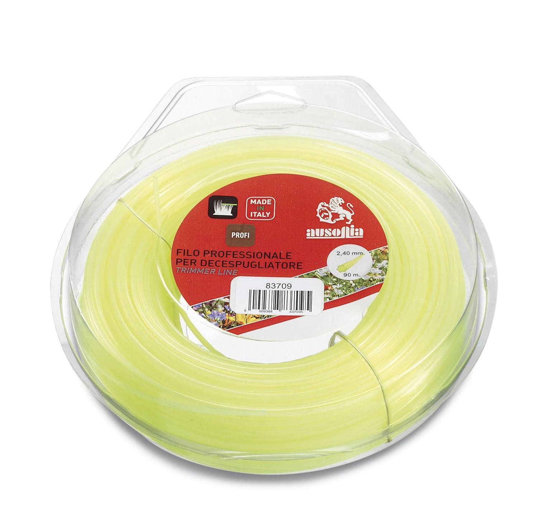 83733 Fil pour d/ébroussailleuse esalobato jaune 3,0 mm x 58 m Ausonia