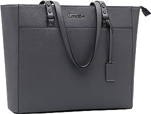 15.6 Inch Briefcase for Women,Womens Laptop Bag,Large Office School Teacher Bag,Multi-Pocket Work Bag,Laptop Tote Bag[grey]