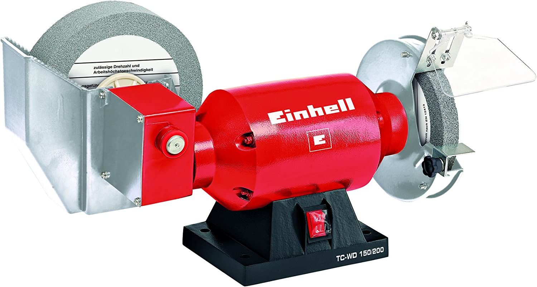 Einhell TC-WD 150/200 - Esmeriladora seco-húmedo, con disco abrasivo/de lijado, 250 W, 230 V, color rojo
