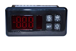 AKO D-14320 120v Temperature Controller | Universal Digital Replacement Thermostat Controller with Adjustable Defrost Cycle for Commercial Food Display Cabinets, Walk In freezers, Chest Freezers