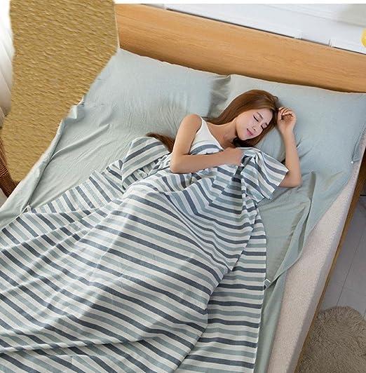Viaje de lavado de algodón sucio saco de dormir portátil doble 180 cm * 210 cm solo 120 cm * 210 cm hotel sucio saco de dormir Hotel de viaje contra sábanas ...