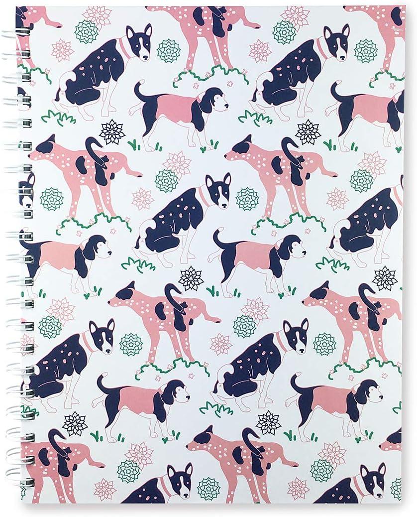 Dog Notebook: Ruled pages, Hard cover, Pet patterns design, Dog Lover's Gift