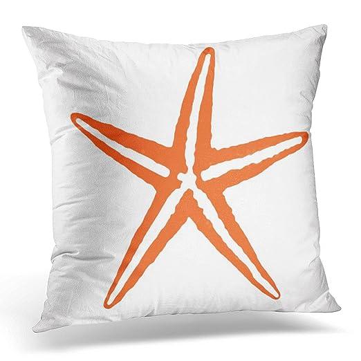emvency manta funda de almohada Coral naranja y blanco ...